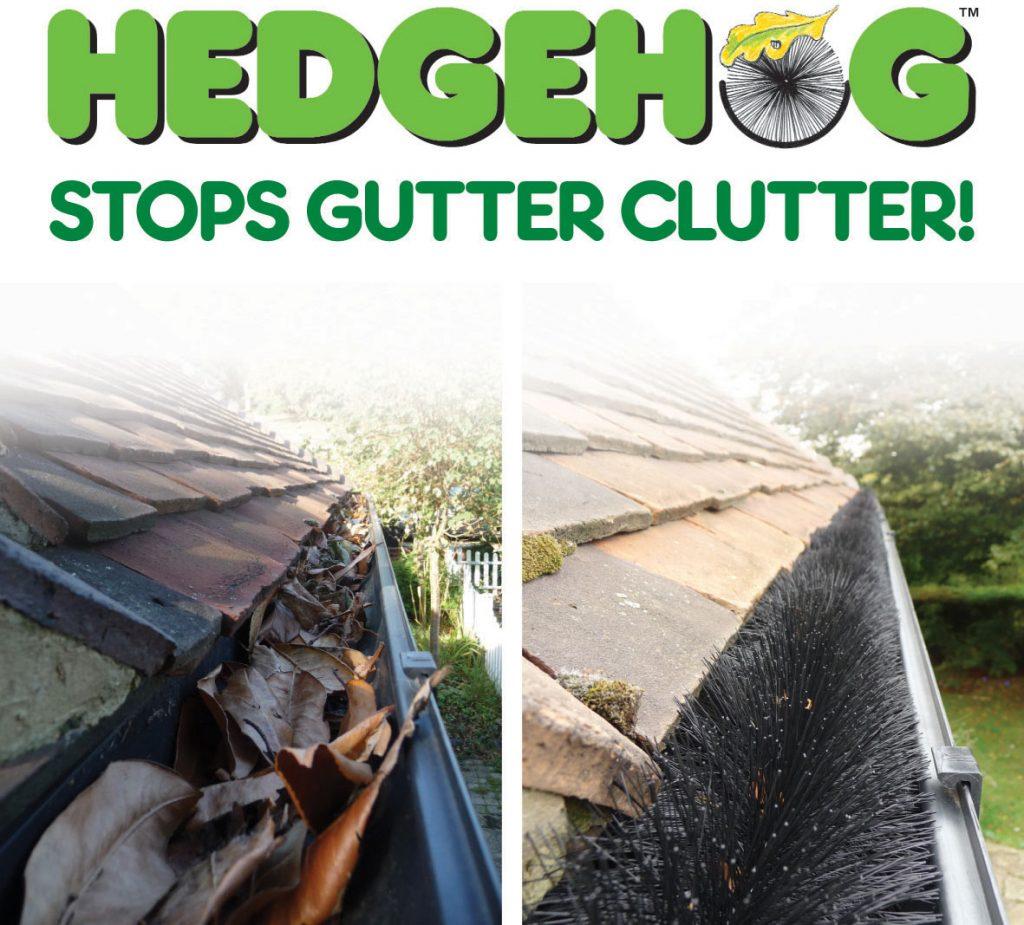Hedgehog stops gutter clutter!
