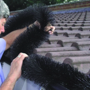 Installing the Hedgehog Gutter Brush