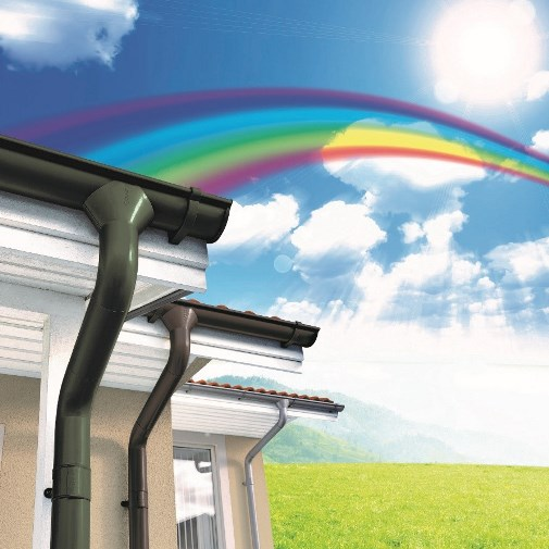 Offer now on coloured Lindab Rainline products for the Rainbow Season!