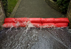 Flood barriers in action
