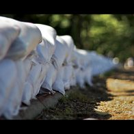 How do sandbags prevent flooding?