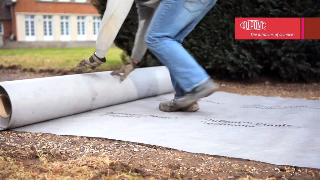Step 2: Lay down geotextile membrane
