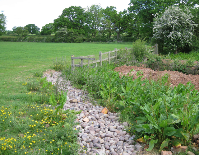 A concealed French drain