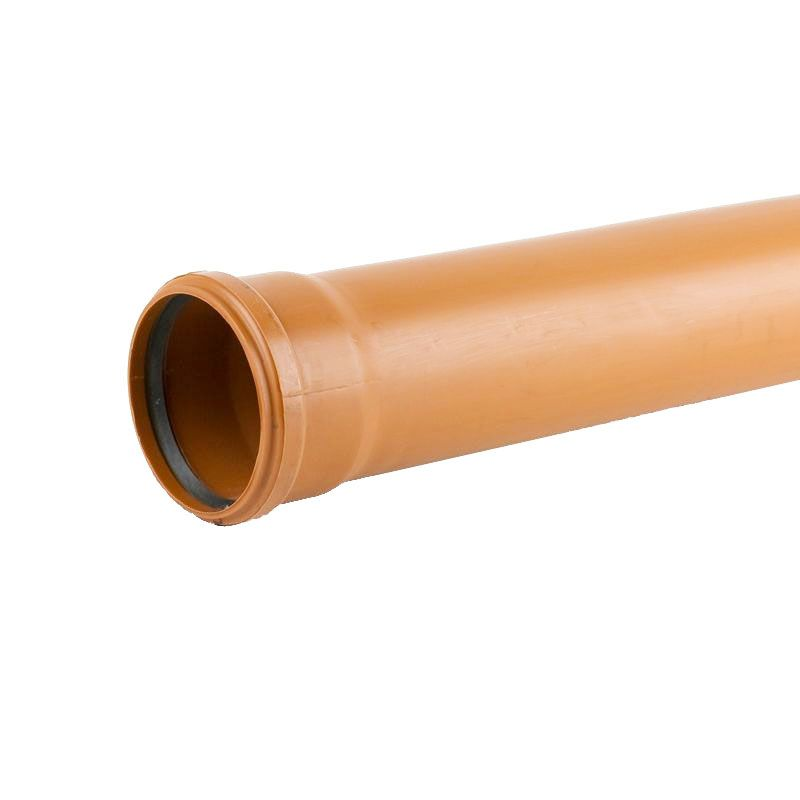 Sewer underground drainage pipe single socket 3m 160mm for One pipe drainage system