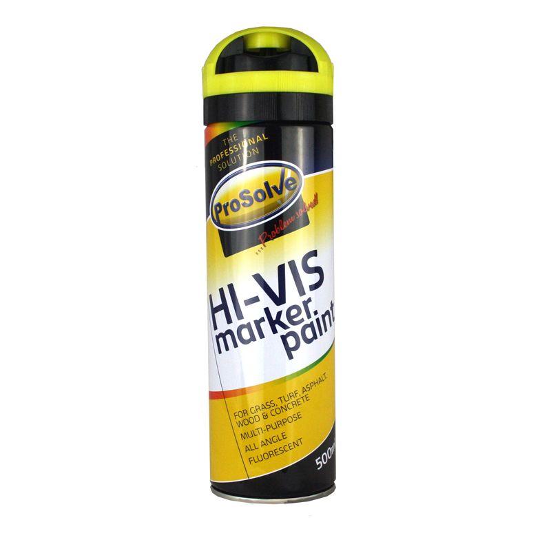 Hi Vis Fluorescent Spray Paint Survey Marker 500ml Yellow Drainage Superstore