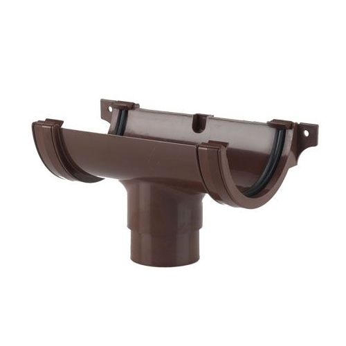 Plastic Guttering Half Round Style Running Outlet 112mm