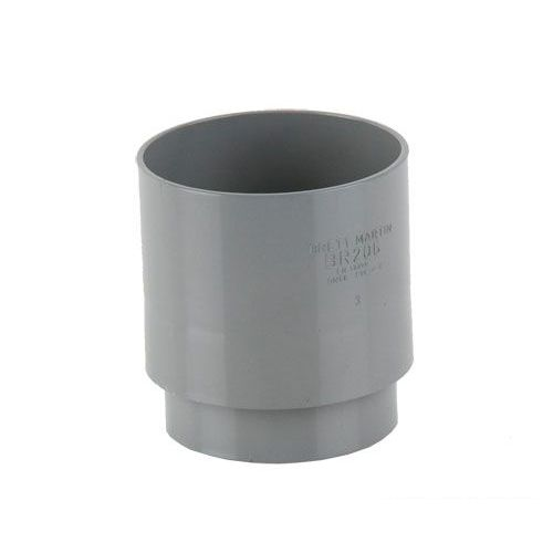 Plastic Guttering Round Style Downpipe Connector 68mm
