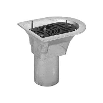 Aco 50mm balcony spigot rainwater outlet flat grate for Balcony outlet