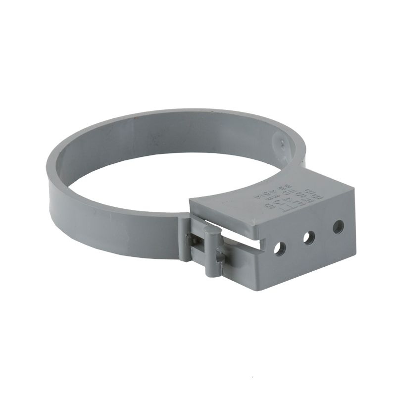Soil pipe push fit single fixing pipe bracket 110mm grey for Soil support