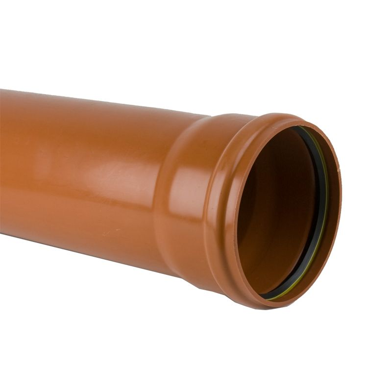 Underground sewer pipe 200mm single socket 3m drainage for Plumbing drain pipe