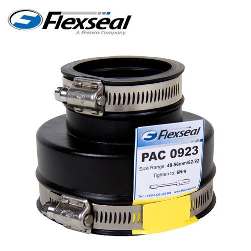 Flexseal 68mm To 38mm Rubber Plumbing Drainage Adaptor