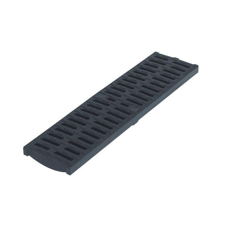 channel drain black composite grate 500mm aco modular. Black Bedroom Furniture Sets. Home Design Ideas