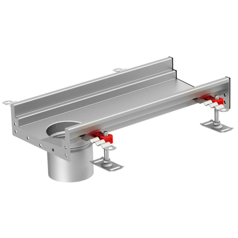 internal channel drain 110mm invert end outlet 1000mm aco. Black Bedroom Furniture Sets. Home Design Ideas