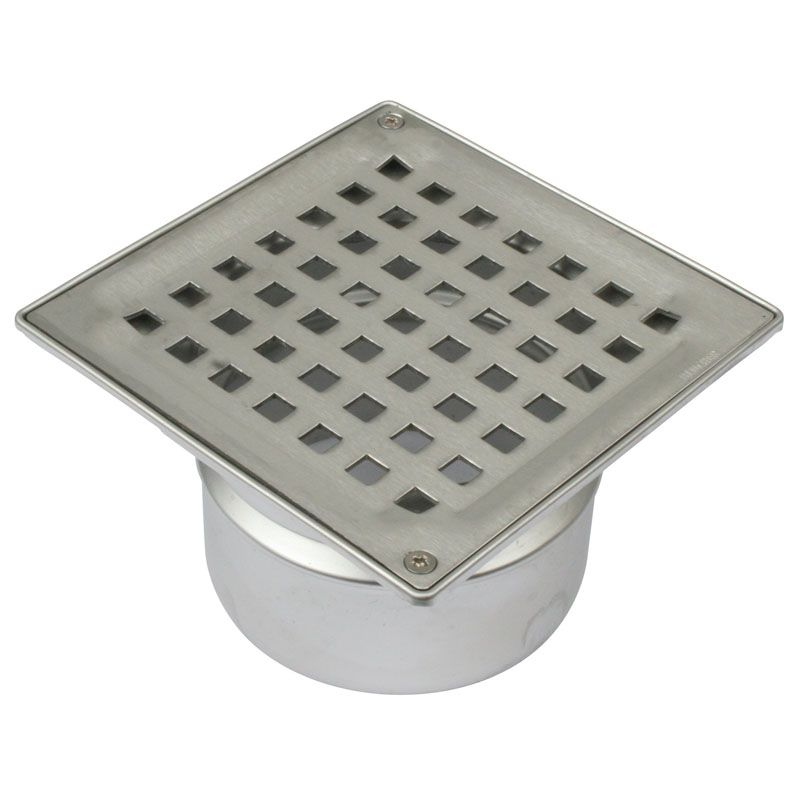 Bathroom Floor Drain : Shower floor drain square stainless steel mm with