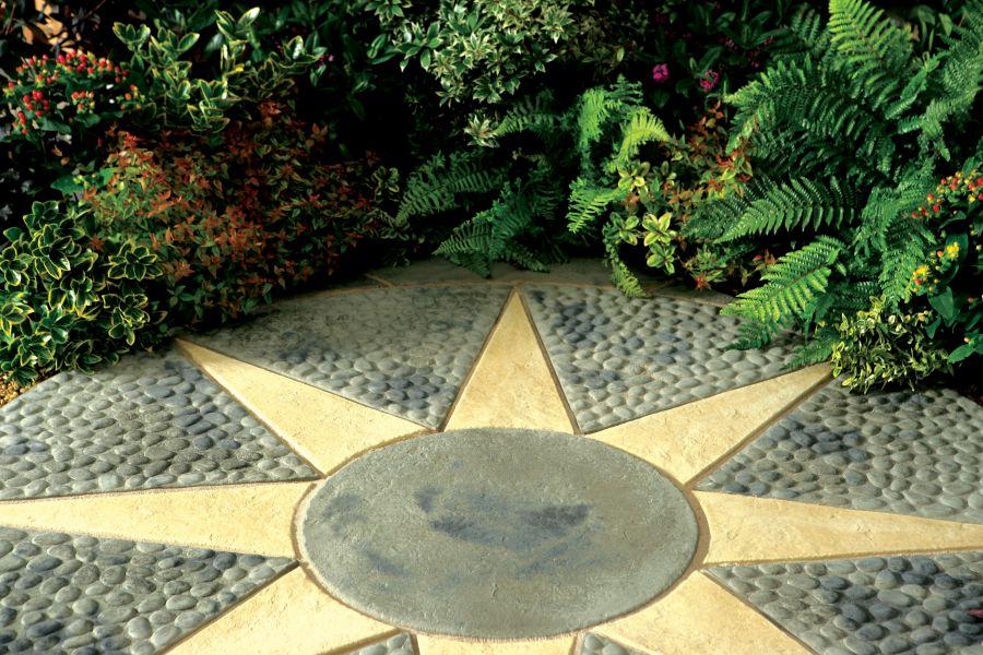 Kelkay Stone Circle Patio Kit Minster Paving 1.8m   Astral Circle
