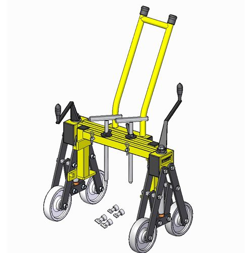 Kobus manhole cover lifter lifting machine with trolley