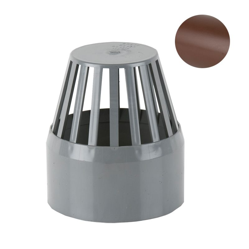 soil pipe push fit 110mm vent cowl brown drainage. Black Bedroom Furniture Sets. Home Design Ideas