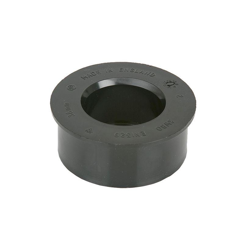 Soil pipe solvent weld mm boss adaptor black