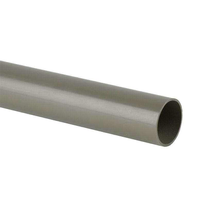 Pvc Sound Bar : Soil pipe solvent weld m plain ended mm grey
