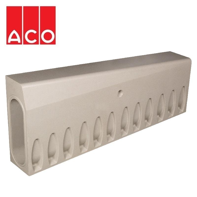 aco kerbdrain hb405 half battered left hand drop kerb unit. Black Bedroom Furniture Sets. Home Design Ideas