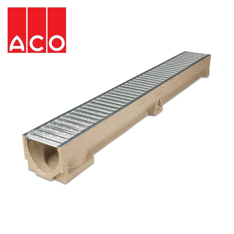 Aco Raindrain Domestic Channel Drain 1m X 118mm X 97mm