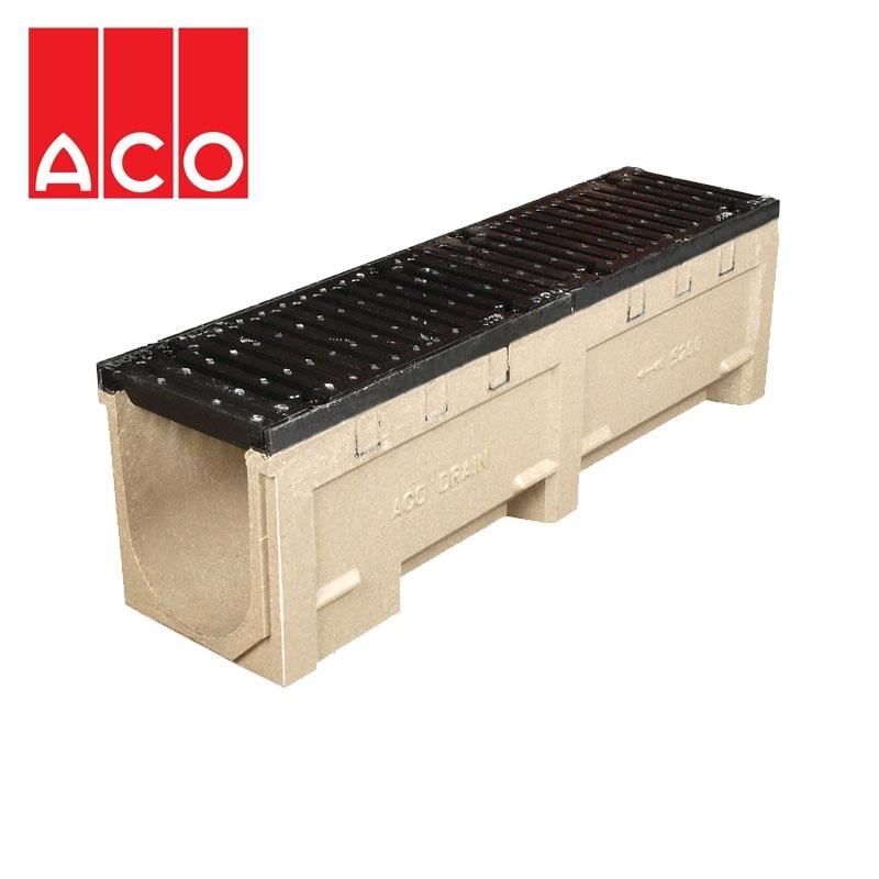 aco s200 heavy duty channel drain 260mm x 309mm x 1000mm. Black Bedroom Furniture Sets. Home Design Ideas