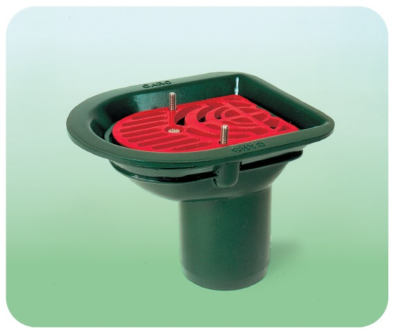 Caroflow roof balcony rainwater outlet grating only for Balcony outlet