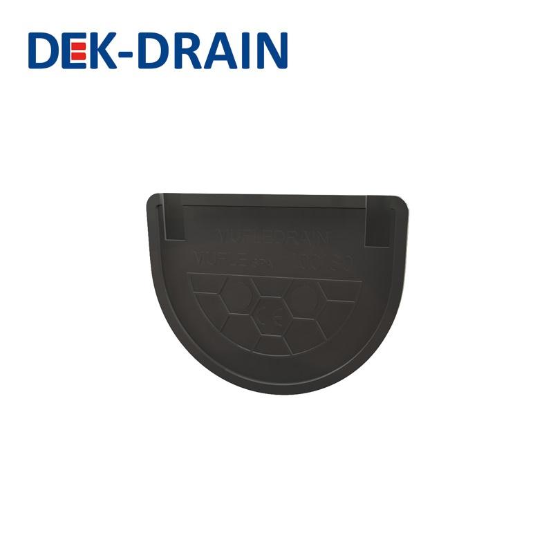 Dek drain hd pe mm end cap drainage superstore