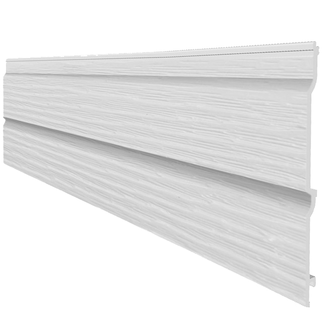 fortex 300mm double shiplap cladding embossed 5m white drainage superstore. Black Bedroom Furniture Sets. Home Design Ideas