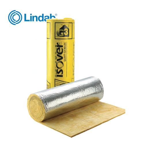 Ventilation ductwrap wool insulation roll 1 2 x 13m 50mm for Wool insulation cost