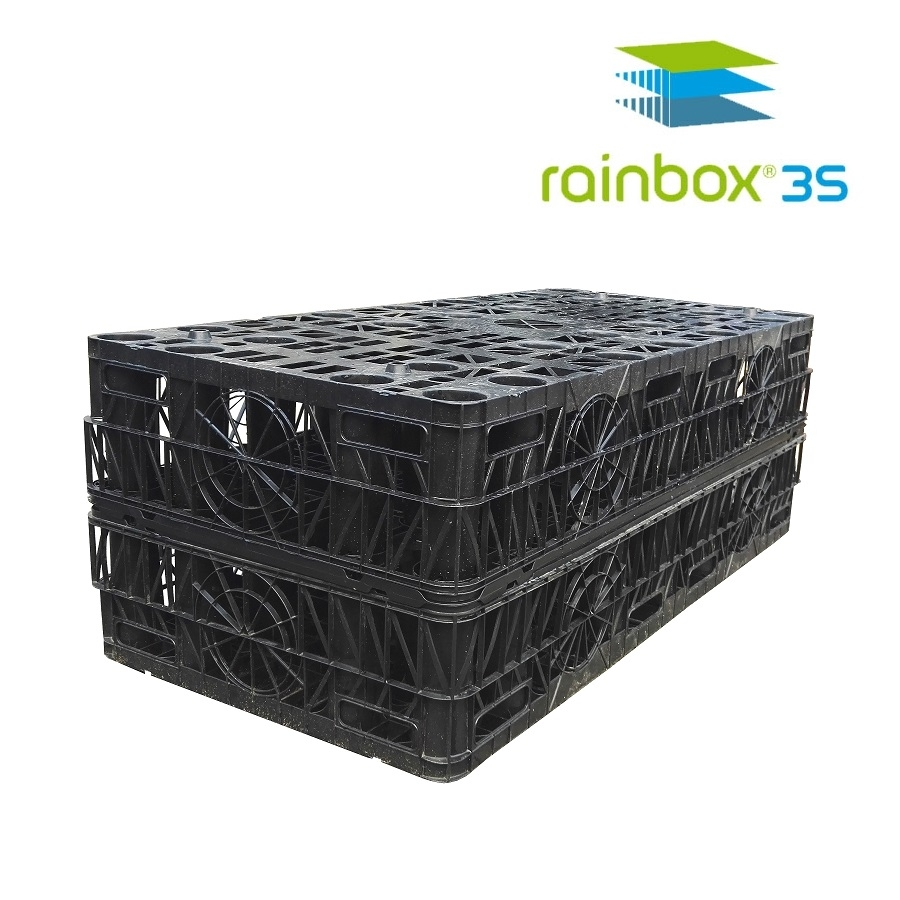 Soakaway Crate by Rainbox 3S Dyka - 3.3 Crates per m3, 20 Tonne Rated