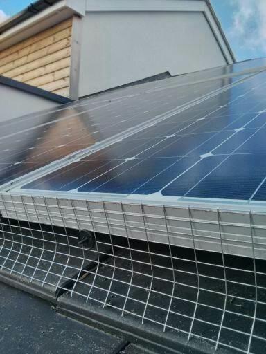 Solar Panel Bird Mesh Exclusion Kit In Galvanised Steel