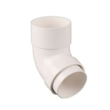 Plastic Guttering Round Style Downpipe 112.5 Degree Bend 68mm - White