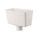 Plastic Guttering Round Style Downpipe Hopper Head 68mm - White