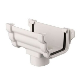 Plastic Guttering Ogee Prostyle Running Outlet 106mm - White