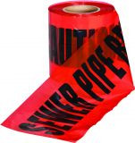 Underground Caution Warning Tape Red Sewer Pipe - 150mm x 365m