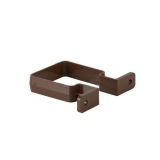 Plastic Guttering Square Downpipe Bracket 65mm - Brown