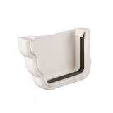 Plastic Guttering Ogee Prostyle External Stop End LH 106mm - White