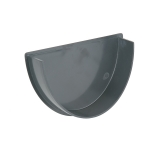 Plastic Guttering Deepstyle Internal Stopend 115mm - Anthracite Grey