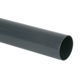 Plastic Guttering Round Downpipe 4m Length 68mm - Anthracite Grey