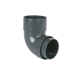 Plastic Guttering Round Downpipe 92.5dg Bend 68mm - Anthracite Grey