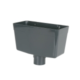 Plastic Guttering Round Downpipe Hopper Head 68mm - Anthracite Grey