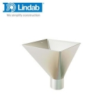 Lindab Large Square Water Hopper 75mm Painted Antique White