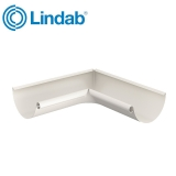 Lindab Half Round 90dg Inner Gutter Angle 100mm Painted Antique White