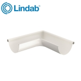 Lindab Half Round 90dg Outer Gutter Angle 100mm Painted Antique White