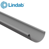 Lindab Half Round Guttering 100mm x 3m Painted Anthracite Metallic