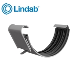 Lindab Half Round Gutter Joint 100mm Painted Anthracite Metallic
