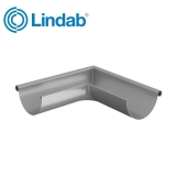 Lindab Half Round 90dg Outer Gutter Angle 100mm Painted Anthracite