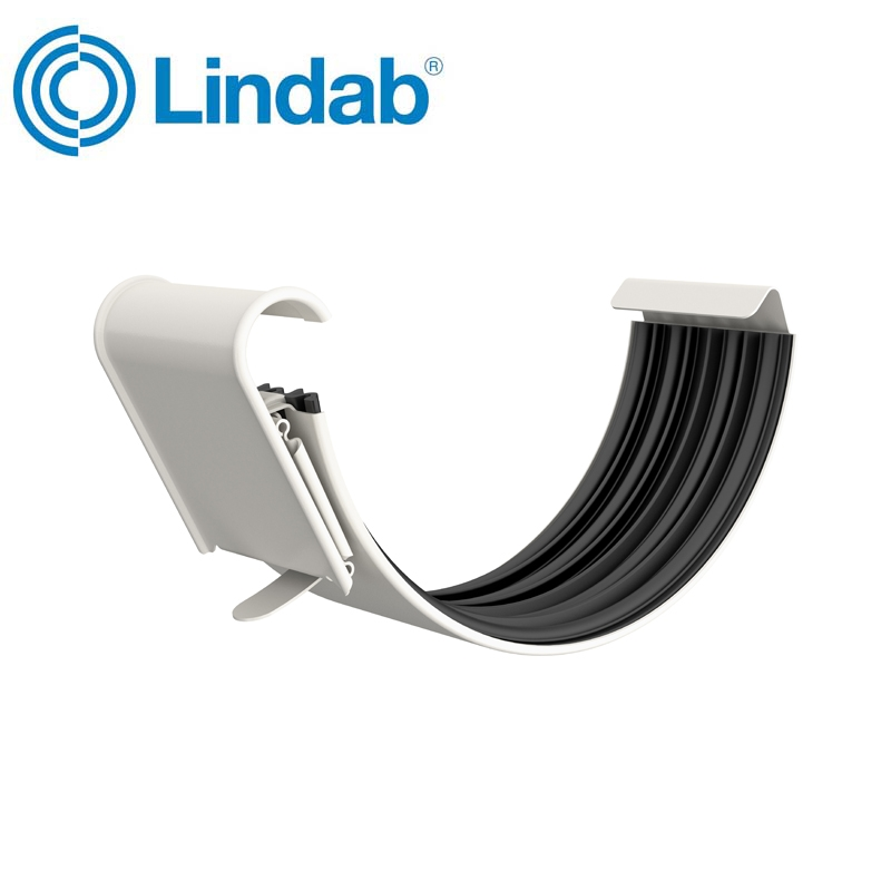 Lindab Half Round Gutter Joint 150mm Painted Antique White