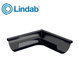 Lindab Half Round 90dg Outer Gutter Angle 150mm Painted Black